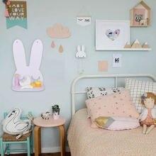 Мультяшные полки в виде кролика настенный креативный декоративный