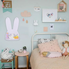 cartoon bunny shelves wall…