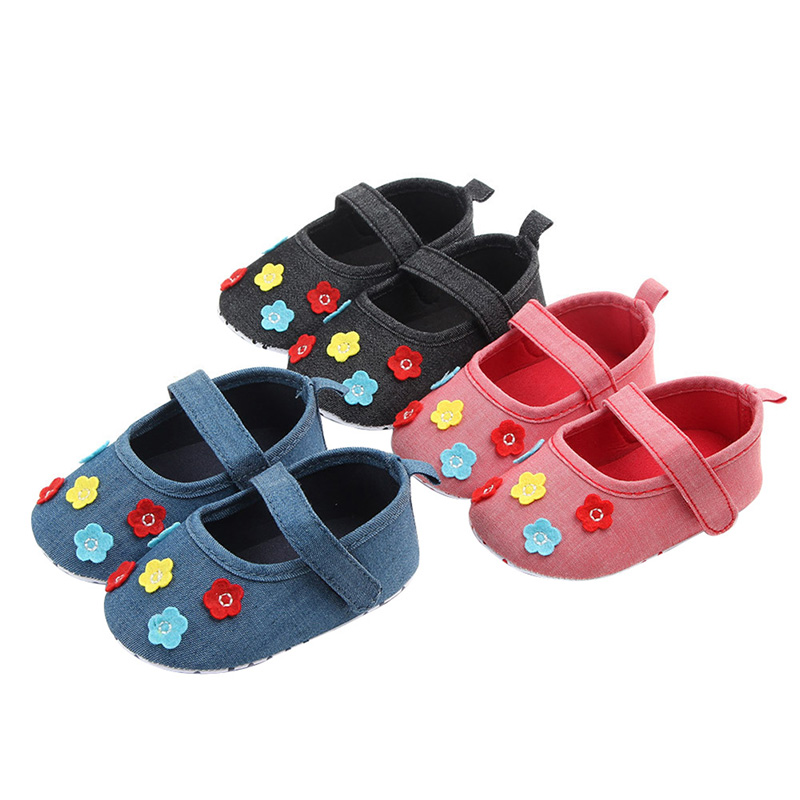 Kids Shoes For Girl Newborn 0-12M Baby Shoes Autumn Cotton Flowers Cute Princess Shoes Wedding Birthday First Walkers