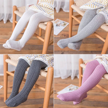 Girls Stockings Panty Baby Winter Toddler Tights Knitted Cotton Autumn Meisje Striped
