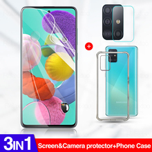 3in1 Hydrogel Film On For Samsung Galaxy A51 A71 Cover Case For Samsung A80 A70 A70S