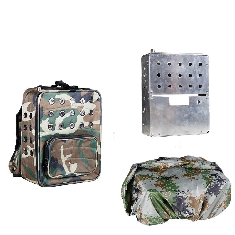 Рация рюкзак базовая станция радио ретранслятор плечо камуфляж Bage & дождевик & рамка из алюминиевого сплава