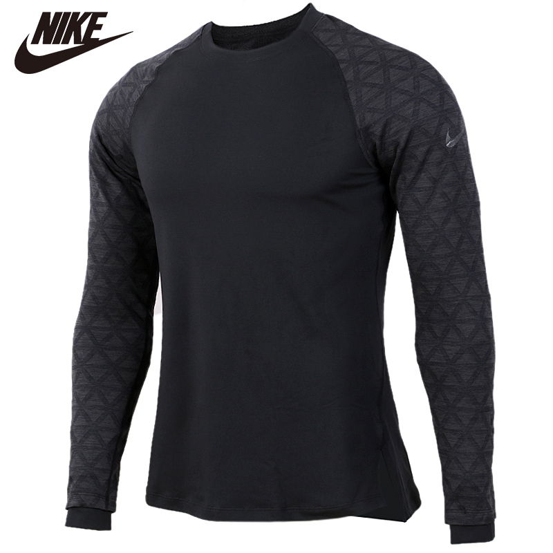 Original <font><b>NIKE</b></font> AS M NP TOP LS UTILITY THRMA 100% cotton Soft <font><b>Tshirts</b></font> Black Comfortabe Clothing Limited Sale image