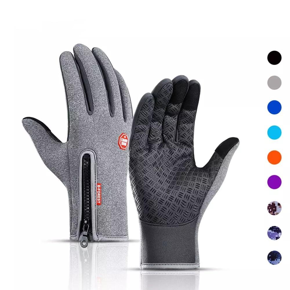 Winter Cycling Warm Man Gloves Touchscreen Full Finger Gloves Waterproof Outdoor Bike Skiing Gloves Women