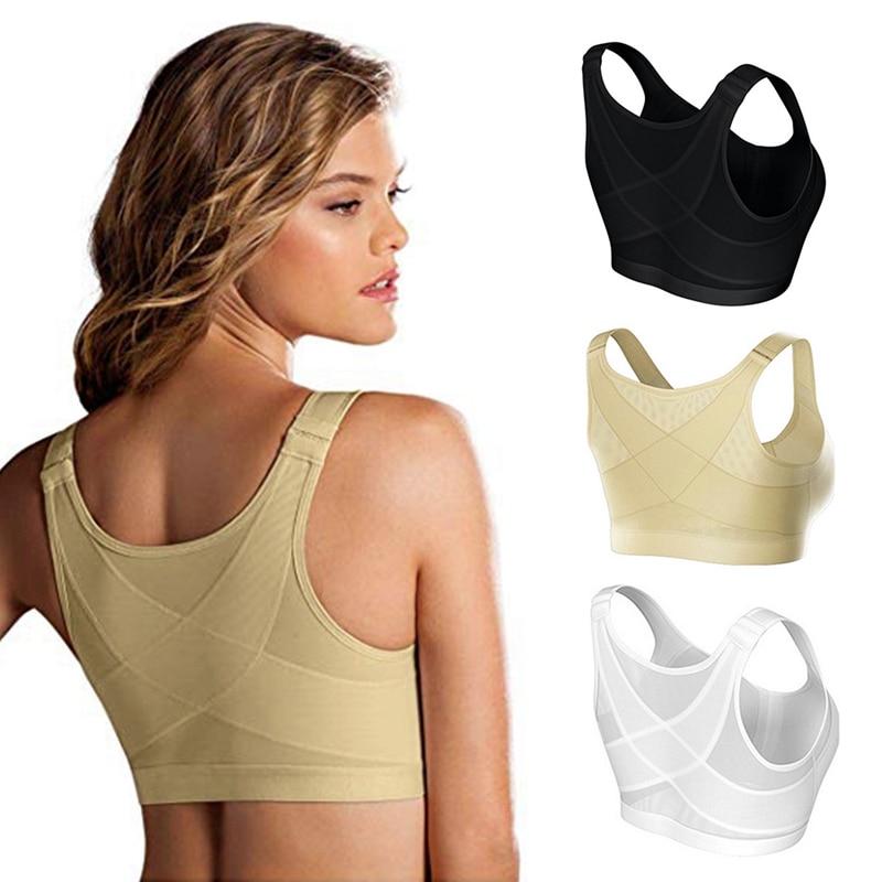 Yoga Sport Bra Posture Corrector Lift Up Bra Women Cross Back Bra Breathable Underwear Shockproof Sport Support Fitness Vest Bra