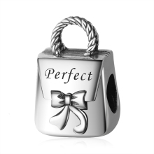 Strollgirl new 100% 925 Sterling Silver Tote Beads Charms Fit Pandora Bracelet 2019 Woman Fashion Jewelry Gift Free Shipping hot