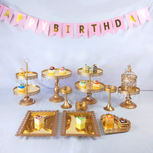 Get more info on the Tobs Wedding Cake Stand Set Cupcake Tower Stand Mirror Crystals Decor Supplies Party Dessert Display Decor Tray Metal Round