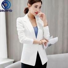 Женский белый блейзер 2020 официальные блейзеры офисный костюм
