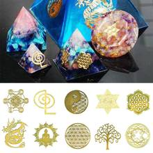 Jewelry-Tool Craft Energy-Mould Copper-Stickers Tower-Pattern DIY Mix Metal Silicone-Making