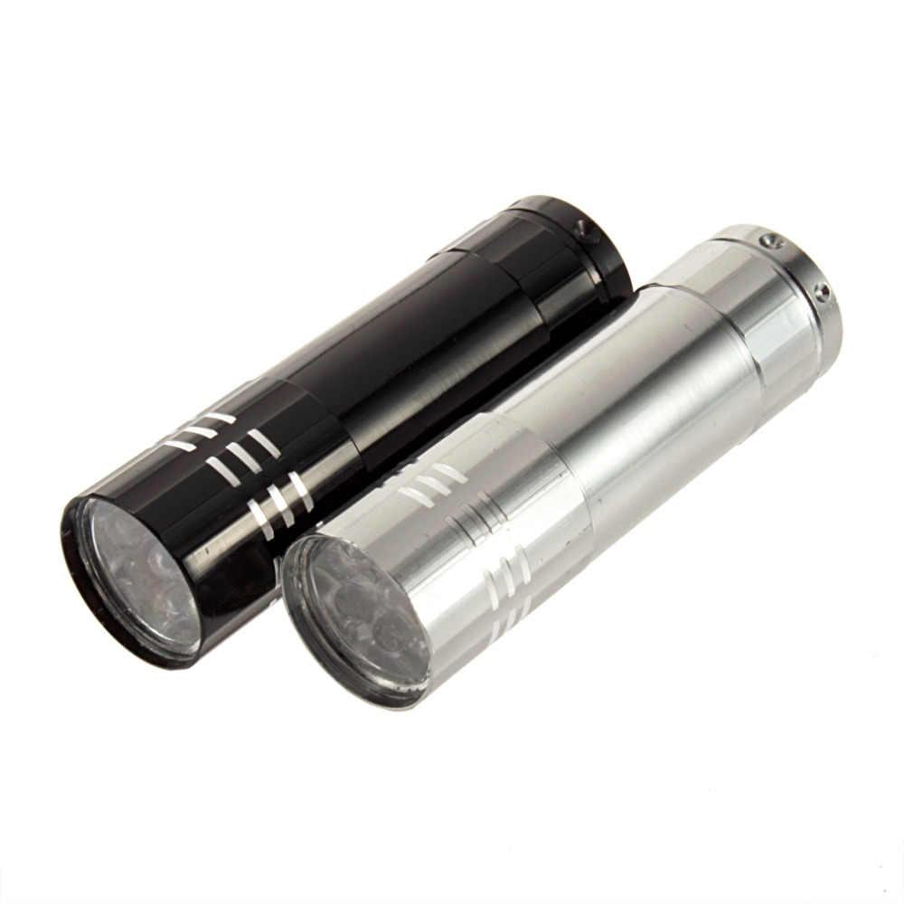 Gran oferta y alta calidad clásico 9 LED de aluminio linterna pequeña linterna de emergencia Camping nueva llegada