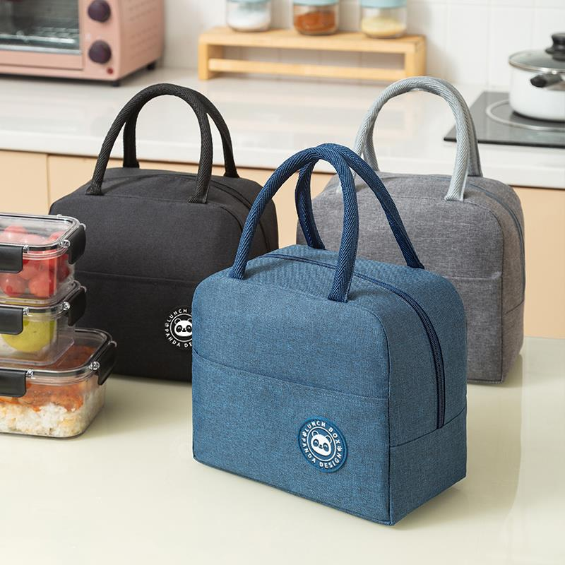 Portable Lunch Bag New Thermal Insulated Lunch Box Tote Cooler Handbag Bento Pouch Dinner Container School Food Storage Bags 2