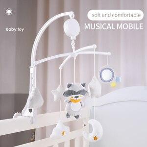 Newborn infant toddler bebê brinquedos 0-12 meses para crianças miúdos das meninas dos meninos em berços cama sino elétrico móvel caixa musical chocalhos