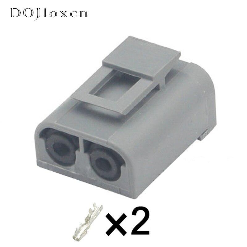 1 zestaw 2 Pin Automotive Grey Connector cewka zapłonowa/pompa paliwa/czujnik prędkości okablowanie Terminal dla Volvo S90 V90 9144275 3523813
