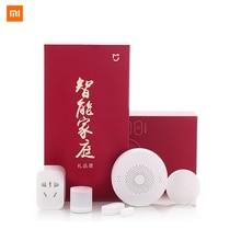 Xiao mi mi jia zestawy Smart home Gateway okna drzwi czujniki ciała czujnik bezprzewodowy przełącznik mi 5 w 1 inteligentne bezpieczeństwo w domu zestaw