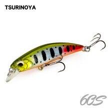TSURINOYA – leurre méné rigide coulant professionnel, appât artificiel idéal pour la pêche au bar, au brochet ou au Carkbait, wobbler, 60S, 60mm, 6.1g