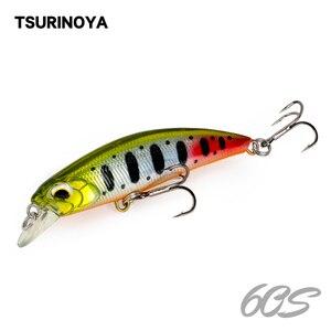 Tsurinoya 60s naufrágio minnow iscas de pesca 60mm 6.1g jerkbait baixo pique carkbait wobblers swimbait profissional isca dura