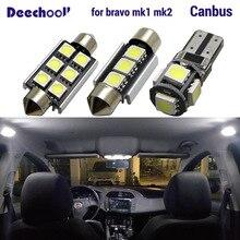 Canbus светодиодные лампочки для салона автомобиля карта купольные огни комплект для Fiat Bravo 1 2 I II MK1 MK2 1995- аксессуары для лампы без ошибок