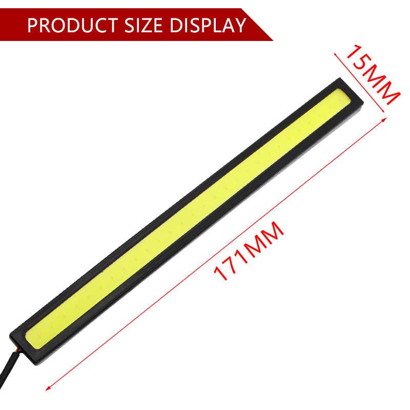 1 pièces 17 cm universel diurne lumière voiture COB DRL LED bande lumière externa lumières de étanche voiture estilo LED DRL la