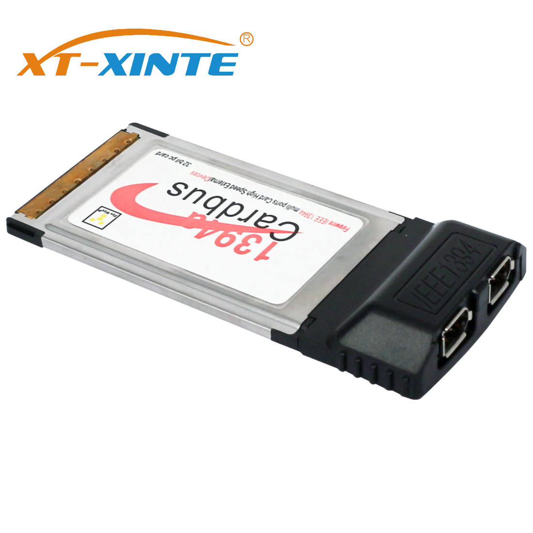 XT-XINTE 2 Port 6 Pin 1394A IEEE 1394 CardBus Card 54mm For PCMCIA Digital Camera DV Camcorders Hard Disks Removable