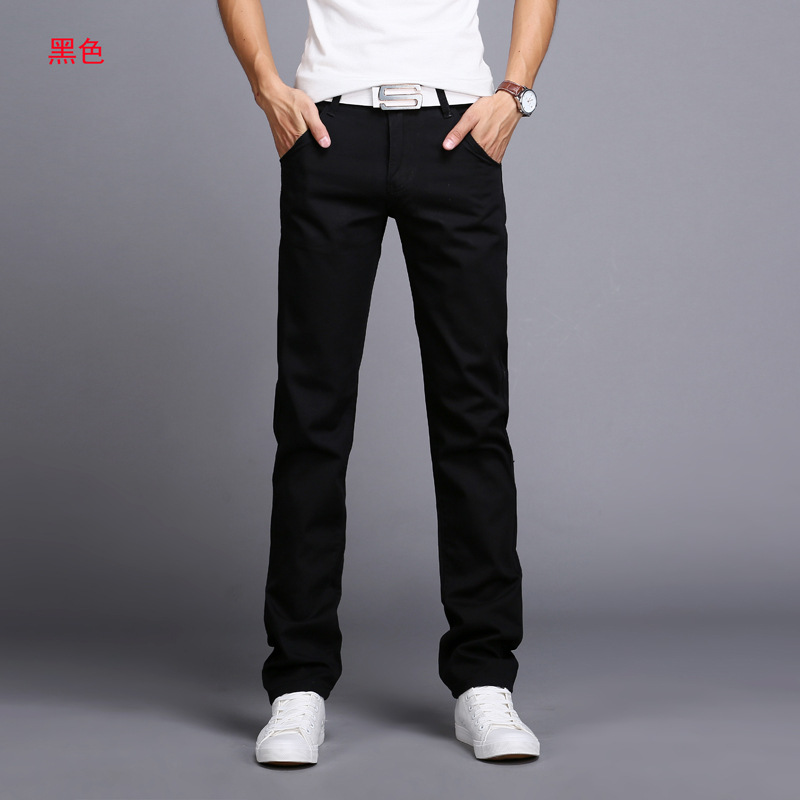 2019 Spring autumn New Casual Pants Men Cotton Slim Fit Chinos Fashion Trousers Male Brand Clothing 9 colors Plus Size 28-38 5
