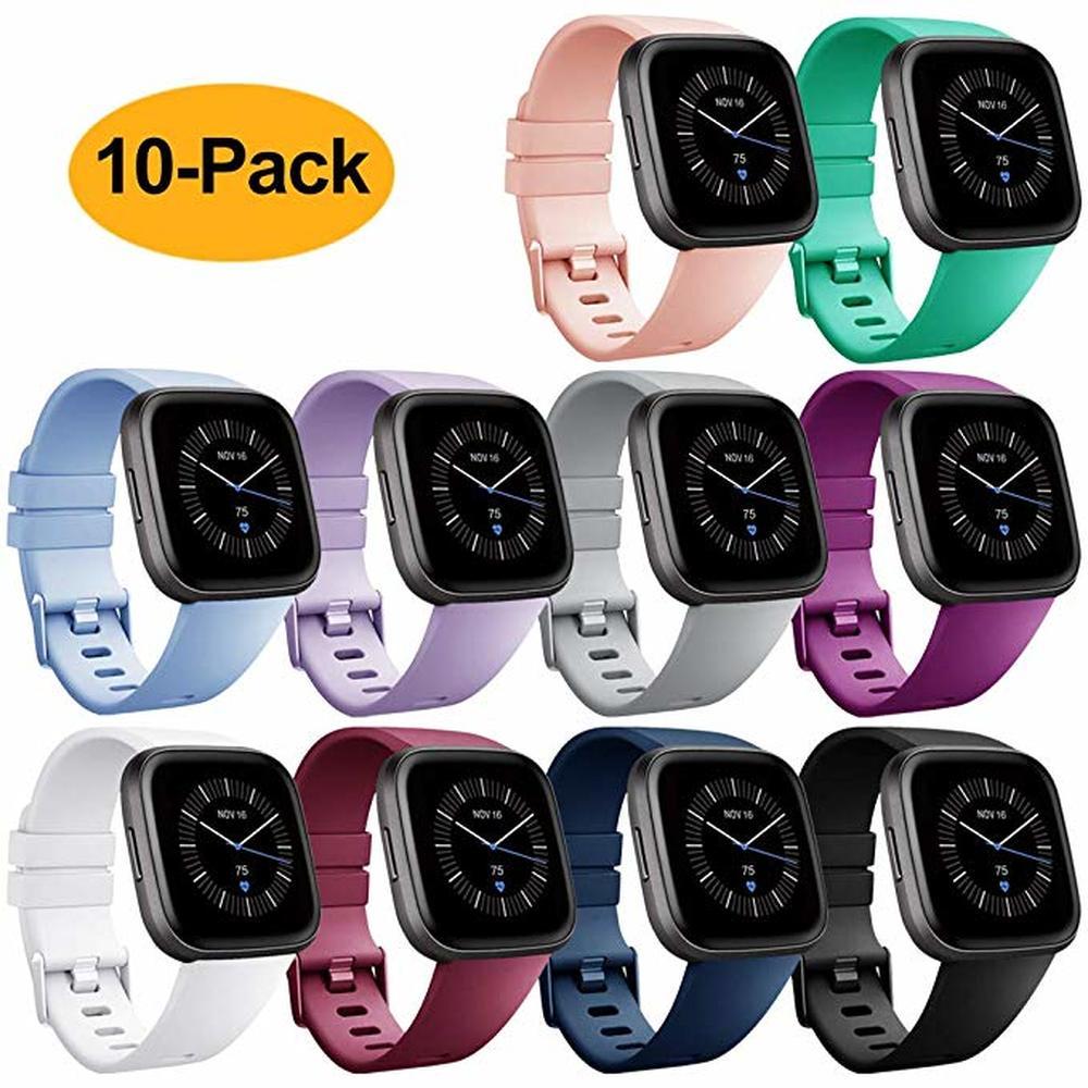 Оригинальный мягкий силиконовый безопасный регулируемый ремешок для Fitbit Versa/Versa Lite /versa 2, ремешок для наручных часов
