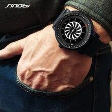 SINOBI yeni erkek izle dönen yaratıcı izle adam mavi deri quartz saat spor ve eğlence moda saatler Reloj Hombre