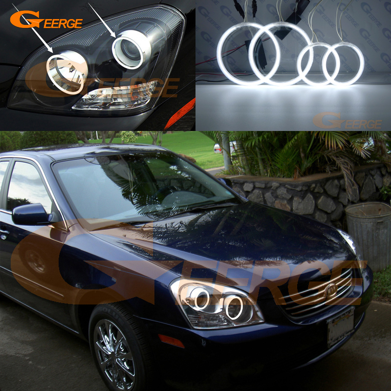 Excellent CCFL Angel Eyes Kit Halo Ring Ultra Bright For Kia Lotze Magentis MG 2005 2006 2007 2008 Pre Facelift Headlight