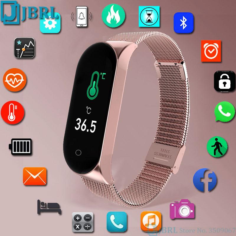 Temperature Smart Watch Men Women Smartwatch Electronics Smart Clock For Android IOS Fitness Tracker New Bluetooth Smart-watch