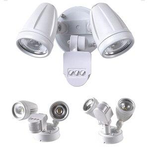 220V LED güvenlik dedektörü duvar işık hareket sensörü açık projektör IP54 su geçirmez COB kızılötesi indüksiyon lamba yeni