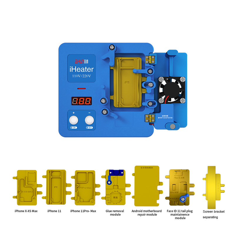JC iHeater Desoldering Station Multi-Functional Thermostat Heating Plate for X-11max 12 Motherboard Face ID Android Fixing