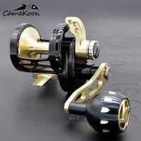 CAMEKOON CNC slow jigging reel boat reel 35kgs drag power left/right handle saltwater lever drag reel trolling big game reel