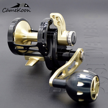 CAMEKOON CNC slow jigging reel boat reel 35kgs drag power left/right handle saltwater lever drag reel trolling big game reel