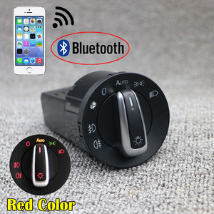 Red Bluetooth AUTO Headlight HeadLamp Switch Light Sensor Module Upgrade For VW Caddy Golf MK4 Jetta 4 Passat B5 Polo Bettle(China)