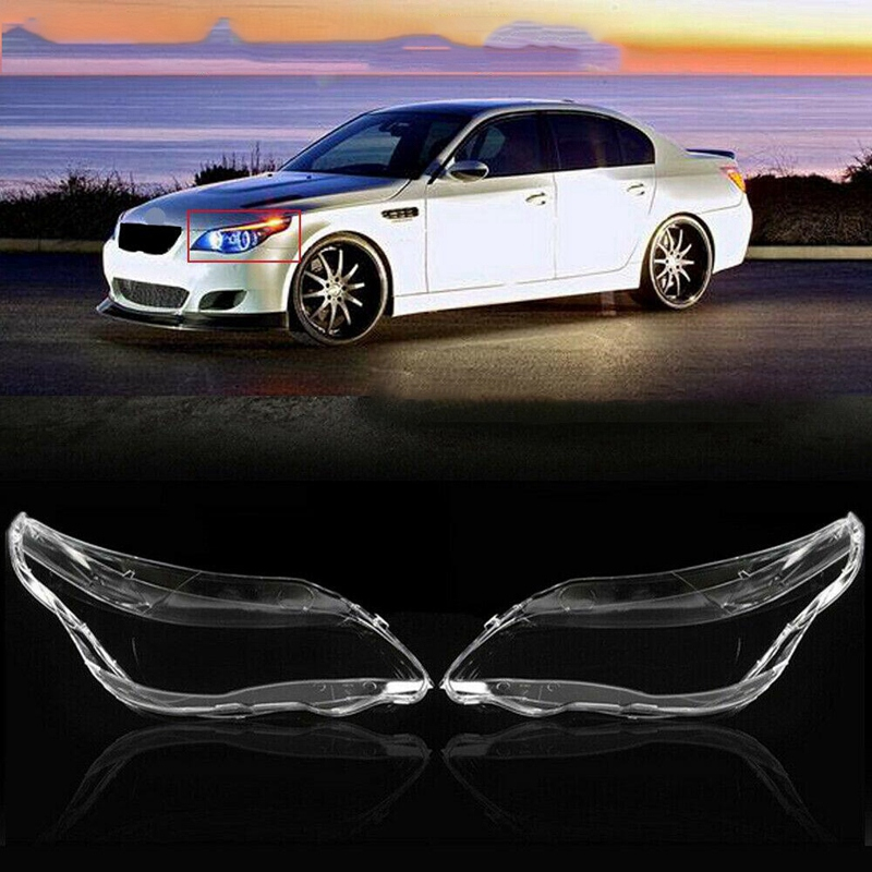 Car Headlight Lens Glass Lampcover Cover Lampshade Bright Shell Product Fit For BMW E60 E61 525I 530I 545I 550I 2003-2010