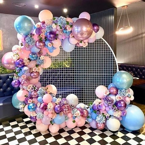 78.8inch 2.5m Round Grid Circle Wedding Birthday Arch Decoration Background Wrought Prop  Arch Outdoor Lawn  Screen Road Guide