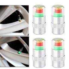 4pcs Car Tire Pressure Gauge Indicator Alert Monitoring Valves Cap Sensor Tyre Pressure Monitor Detection