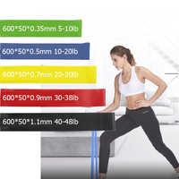 5 шт. Эспандеры 5 уровней для упражнений эластичные фитнес-тренировки Йога петля для тренировки Тяговая веревка с прочными эластичными лент...