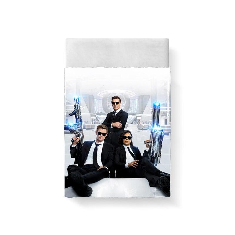 Man in Black Bed Sheet Linen Poplin Posciel Cotton Coarse Calico Couple Single Euro Kids Twin Xl Bedding Ropa De Cama Queen