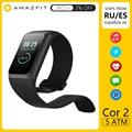 Amazfit Band Cor 2 Смарт-часы 5ATM водонепроницаемые 2.5D цветной каркас из нержавеющей стали для Android IOS Huami smartwatch Браслет