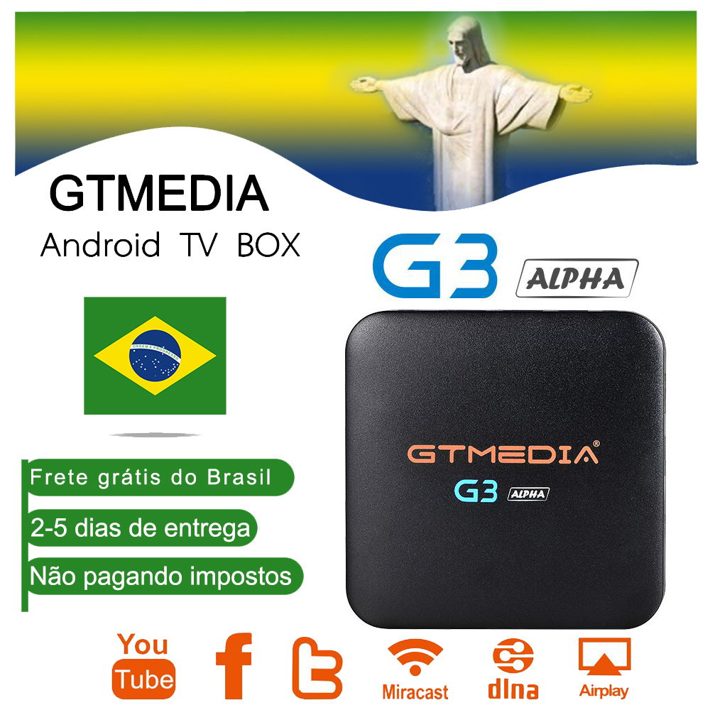 GTMEDIA G3 Smart Tv Box H.265 WIFI Netflix Iptv Subscription Italy UK German French Spanish Brazil For Android Box Enigma2 M3u