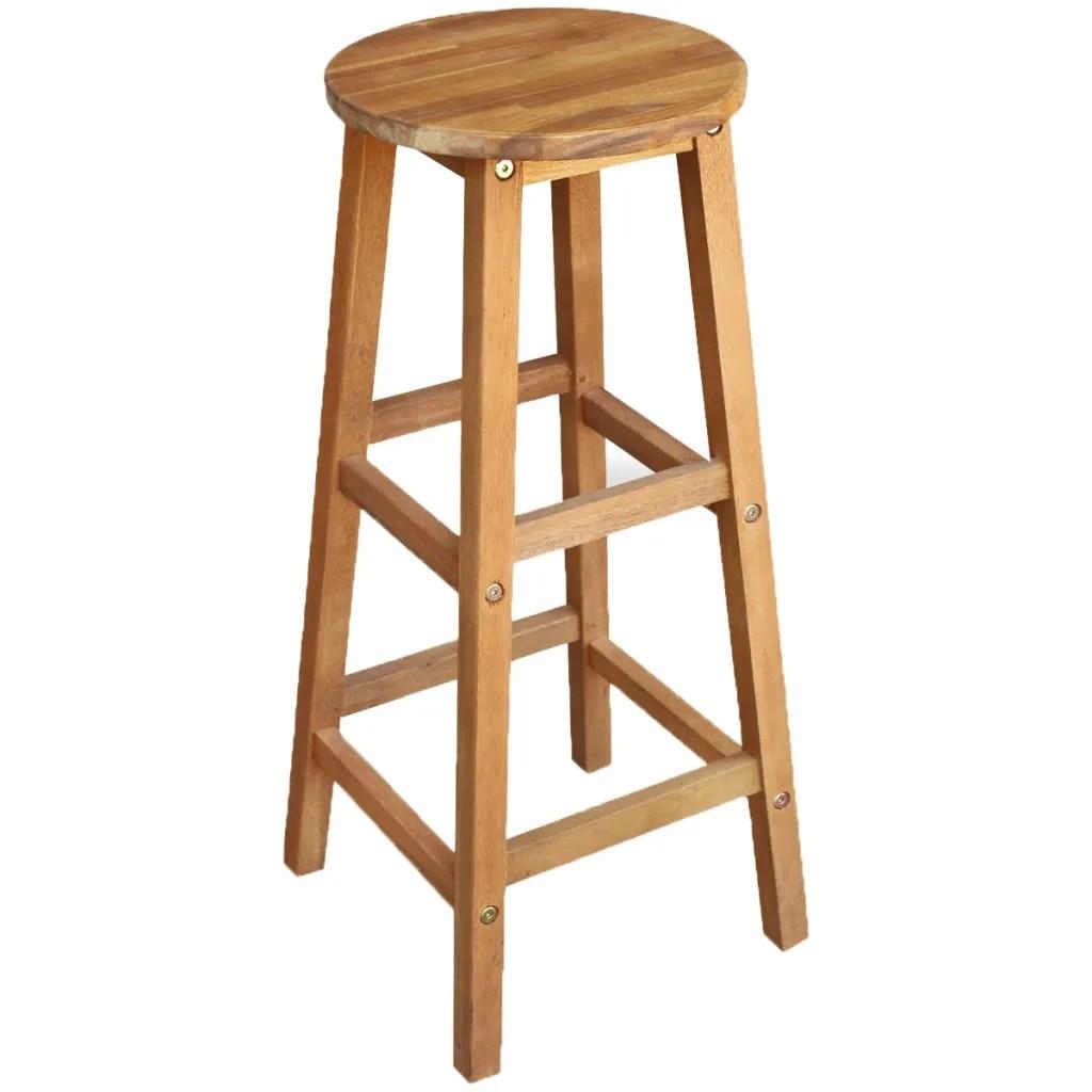 VidaXL Bar Chairs 2 Pcs Solid Acacia Wood 34x34x76 Cm 44129