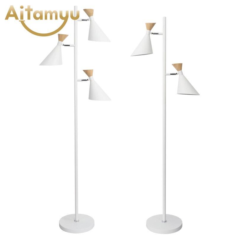 Living Room Floor Lamp American Led Folding Standing Light For Office Reading Luminaria de mesa Energy Saving Lighting in Floor Lamps from Lights Lighting