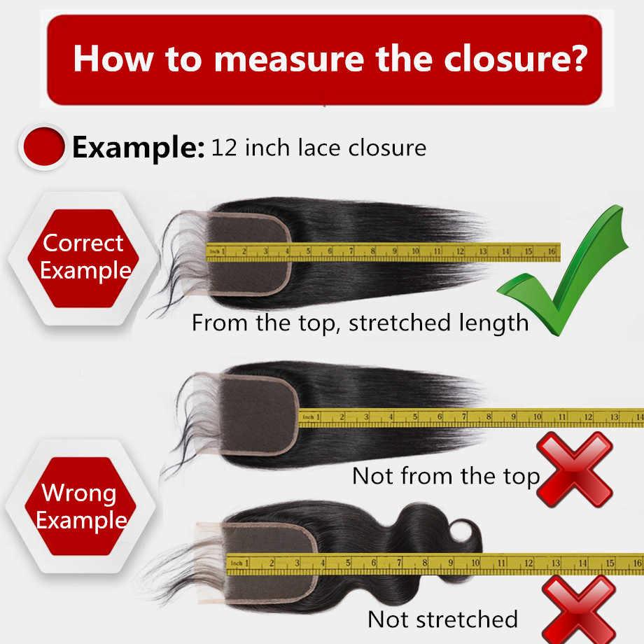 Bling włosów głęboka fala zamknięcie koronki 4*4 bezpłatne/Middle/trzy część 100% Remy ludzki włos brazylijski zamknięcie Natural Color darmowa wysyłka