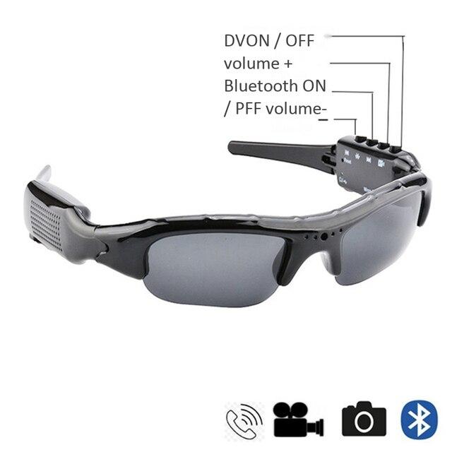 Téléphone portable appel bluetooth casque lecteur de musique lunettes MP3 webcam caméra vidéo lunettes de soleil sans fil sport TF carte lunettes