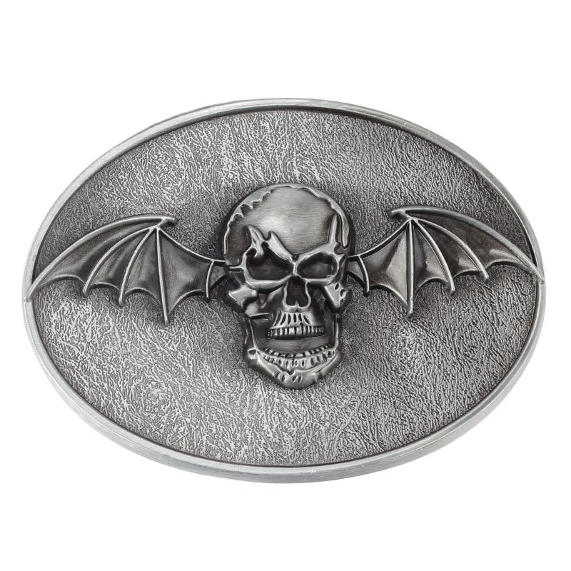 Skull skeleton belt buckle Belt DIY accessories Western cowboy style Smooth belt buckle Punk rock style k19