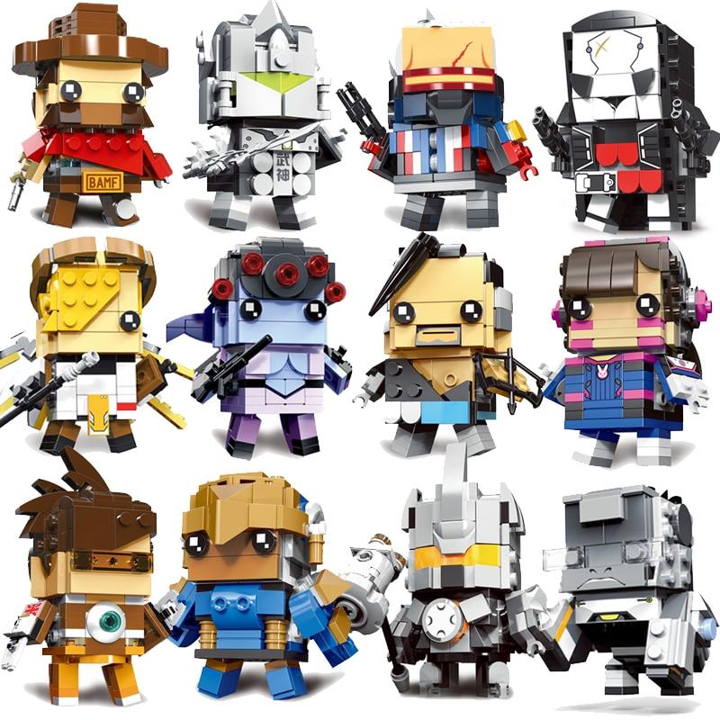 Decool Mini Overwatching Figures Super Heroes model Brickheadz Building Blocks Bricks Toys for children gifts Juguetes