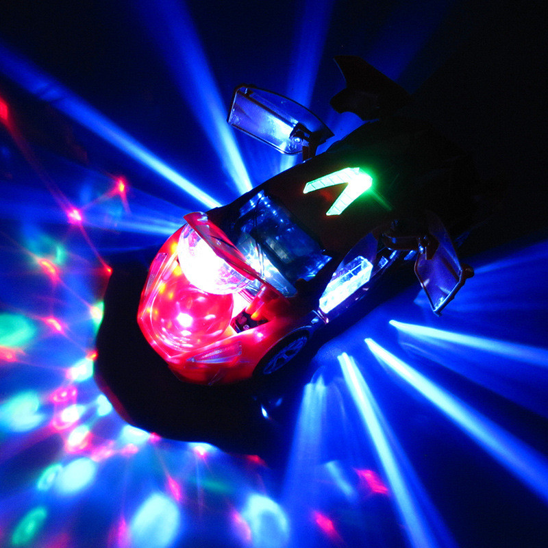 Electric Transformer Party Light Music Car Universal 360 Degree Rotating Sports Car Racing Kids Gifts