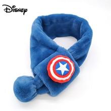 Детский шарф Дисней для мальчиков, зимний ветрозащитный утепленный комбинезон для мальчиков, теплый плюшевый воротник