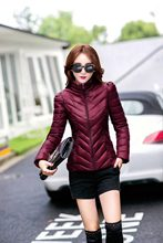 Autumn Winter Jacket Women Stand Collar Light Jackets Slim Short Cotton Padded Coats Hooded Thick Outerwear LX956(China)