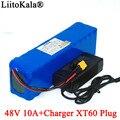 LiitoKala E-bike батарея 48v 10ah 18650 литий-ионный аккумулятор Комплект преобразования велосипеда 1000w XT60 штекер + 54 6 v 2A зарядное устройство